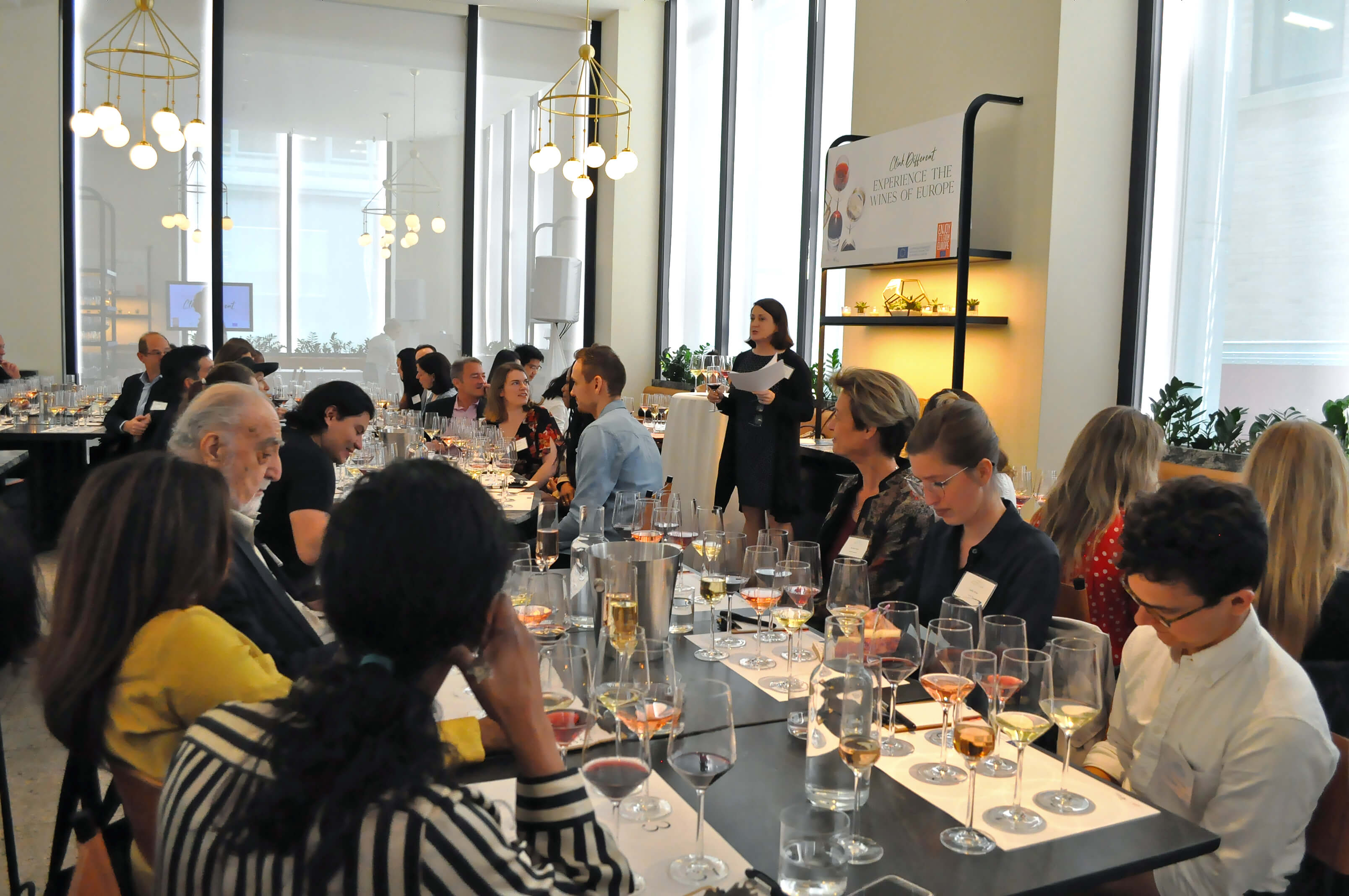 Master of Wine Jean Reilly, Education Director of Clink Different, led attendees through a blind tasting of German and Bordeaux wines
