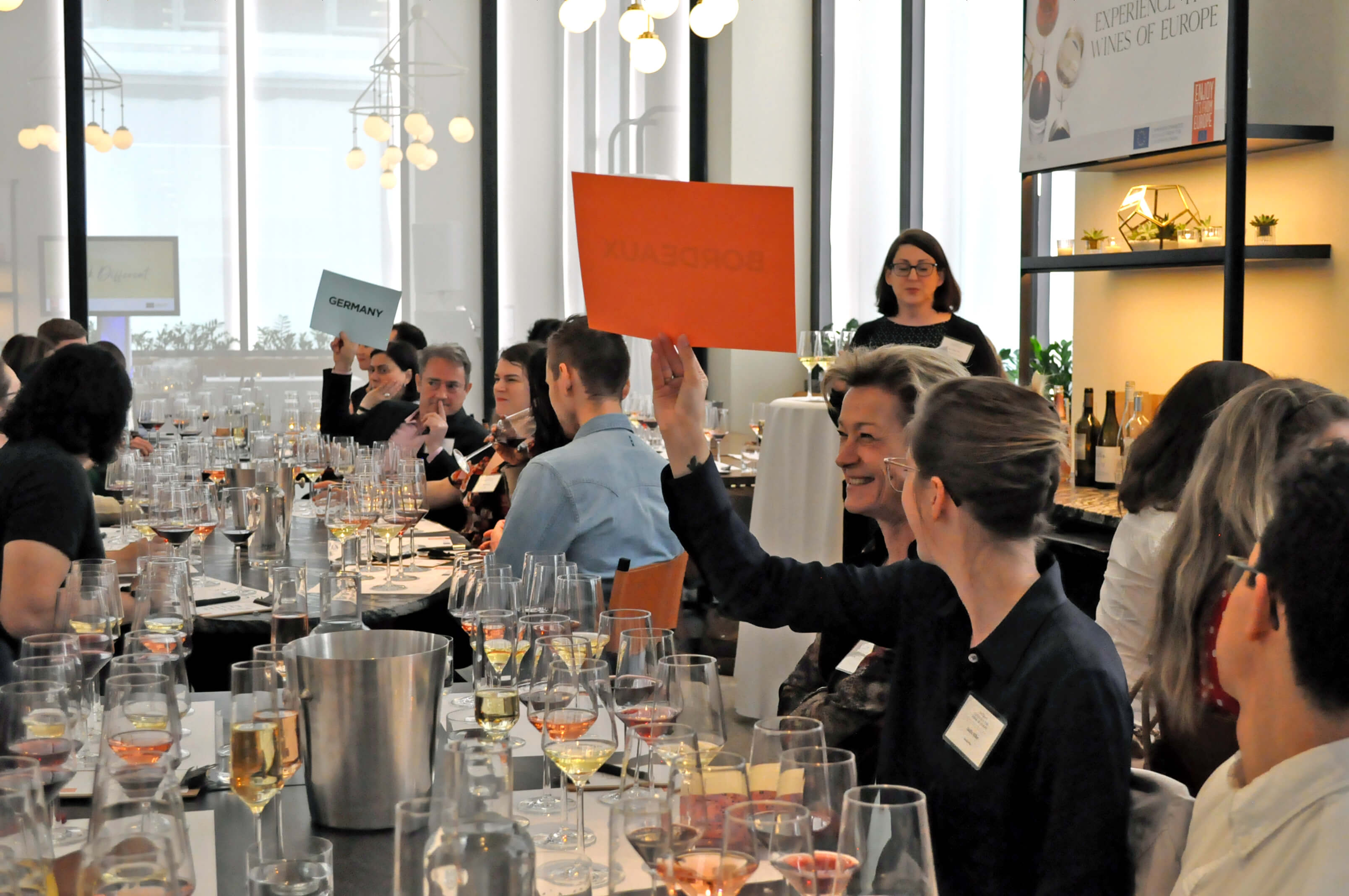 Clink Different launch event attendees enjoyed a blind tasting in which they guessed wine regions