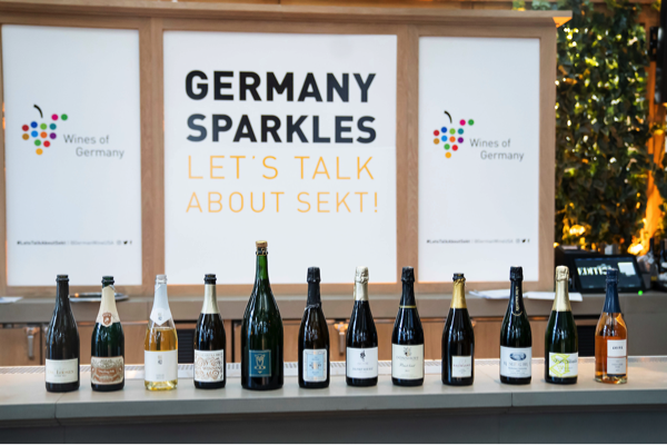 Wines of Germany presented 12 unique and high quality wines at 'Let's Talk About Sekt'